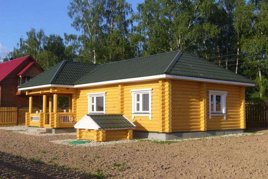 дом из бревна одноэтажный фото