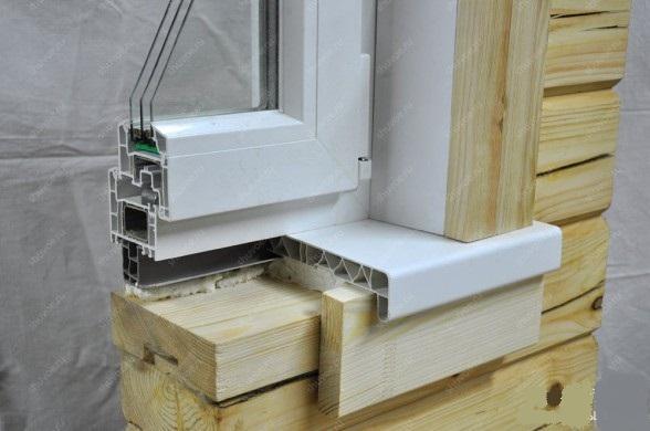 Установка окна в деревянном доме своими руками