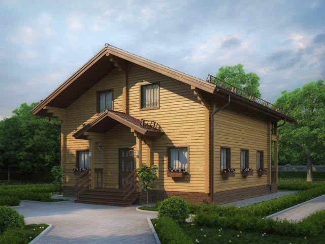 Деревянный дом №34