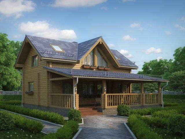 Деревянный дом №35