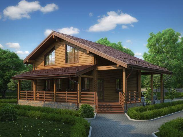 Деревянный дом №37