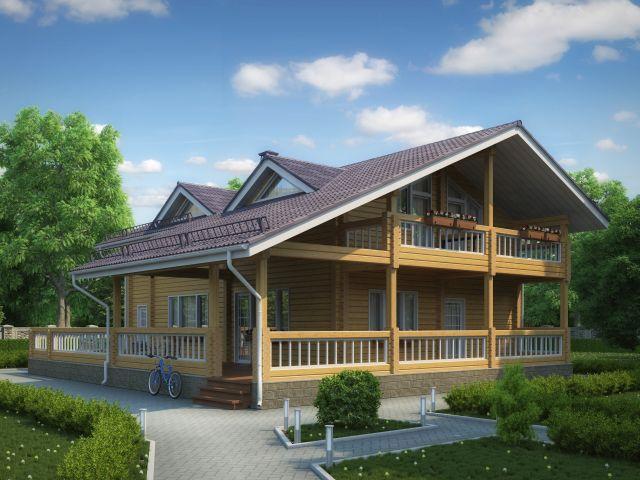 Деревянный дом №40