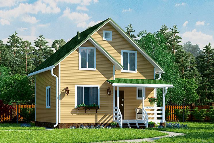 Деревянный дом №44