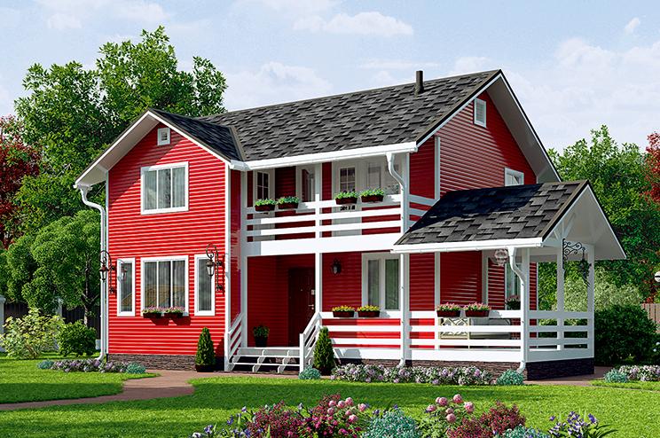 Деревянный дом №45
