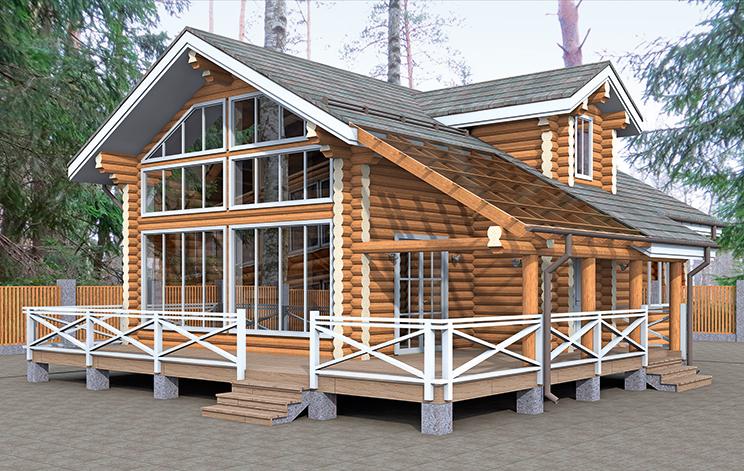Деревянный дом №46