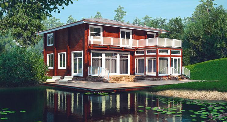 Деревянный дом №47
