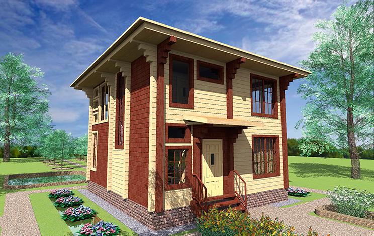 Деревянный дом №48