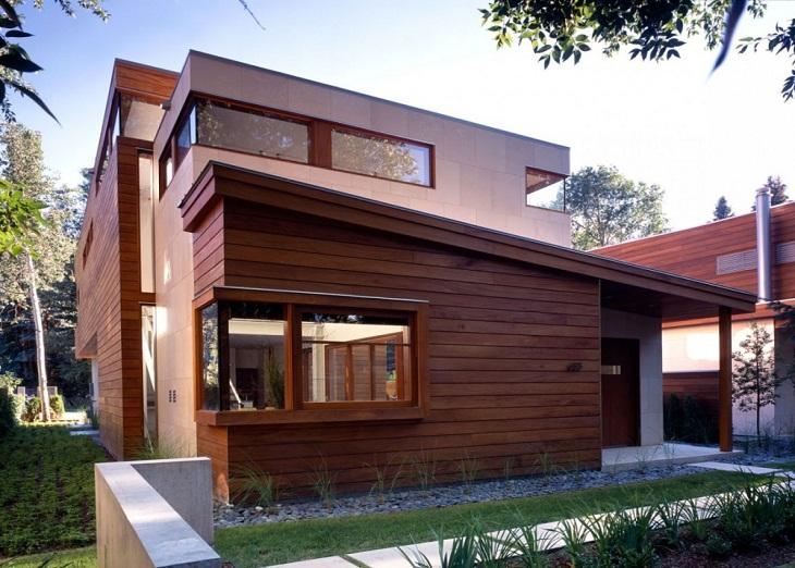 Отделка фасада в деревянном доме