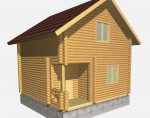 Дома из бревна 5м x 5м