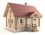 Дома из бревна 6м x 8м
