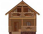 Дома из бревна с балконом