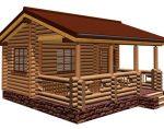 Дома из бревна с террасой/верандой