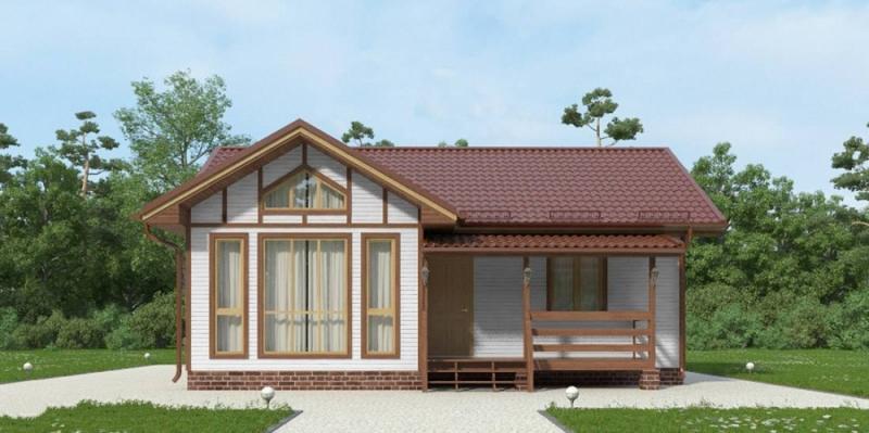 """Проект дома """"Эйдон"""", профилированный брус, 67.14 кв.м."""