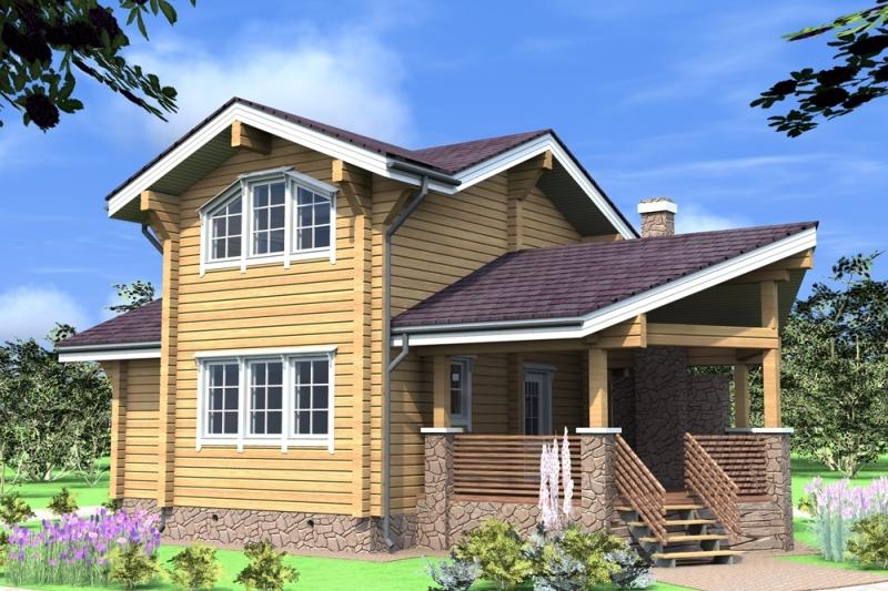 """Проект дома """"Шарун"""", профилированный брус, 192 кв.м."""