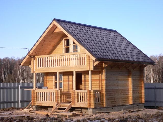 """Проект дома """"Абсолют"""", профилированный брус, 41.8 кв.м."""