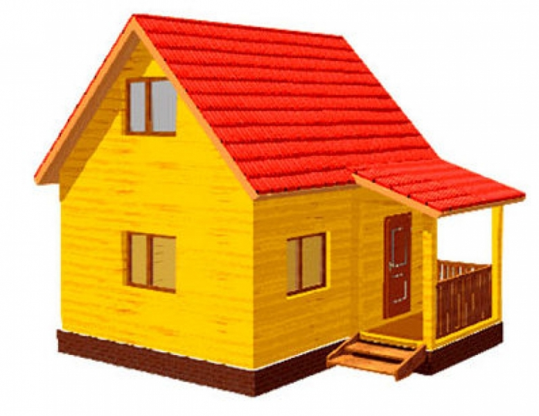 """Проект дома """"Арахна"""", профилированный брус, 29.79 кв.м."""