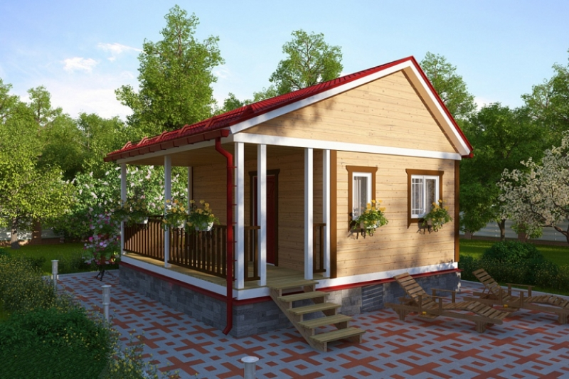 """Проект дома """"Лахти"""", профилированный брус, 20.44 кв.м."""