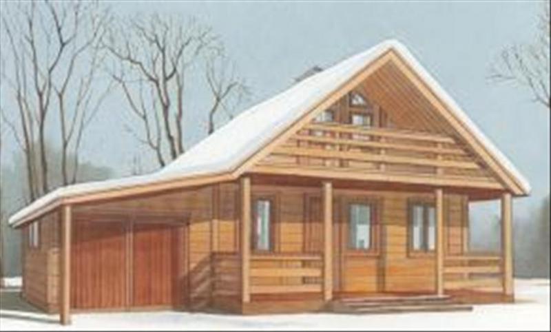 """Проект дома """"Лорция"""", профилированный брус, 77 кв.м."""