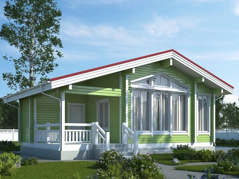"""Проект дома """"БД-180"""", профилированный брус, 67.79 кв.м."""