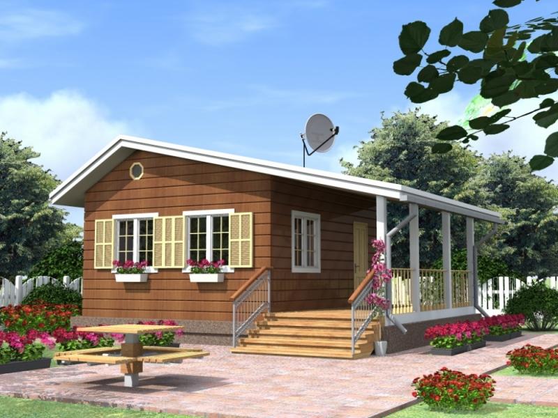 """Проект дома """"Тамариски"""", профилированный брус, 27.1 кв.м."""