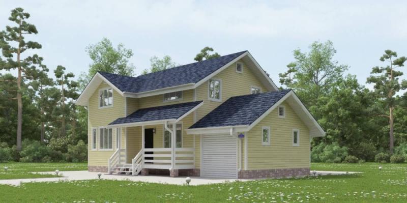 """Проект дома """"Ньюкасл"""", профилированный брус, 180 кв.м."""