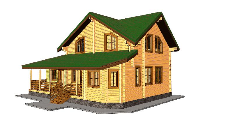 """Проект дома """"Оксфорд"""", профилированный брус, 121.1 кв.м."""
