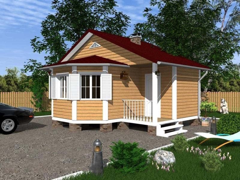 """Проект дома """"Астеропа"""", профилированный брус, 42 кв.м."""