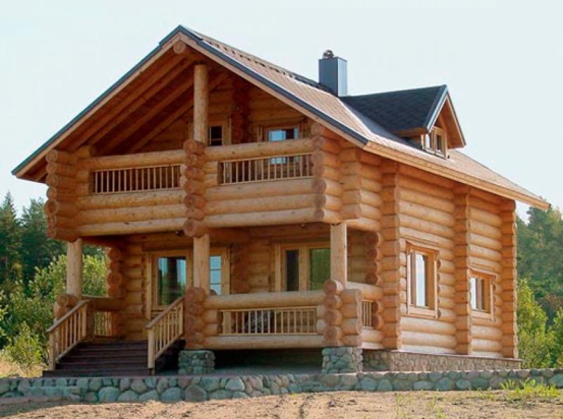 """Проект дома """"Андроников"""", оцилиндрованное бревно, 49 кв.м."""