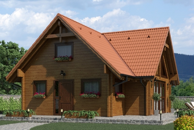 """Проект дома """"Кардона"""", профилированный брус, 108 кв.м."""