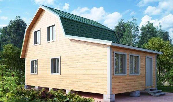 """Проект дома """"Лэмплэнд"""", профилированный брус, 40 кв.м."""