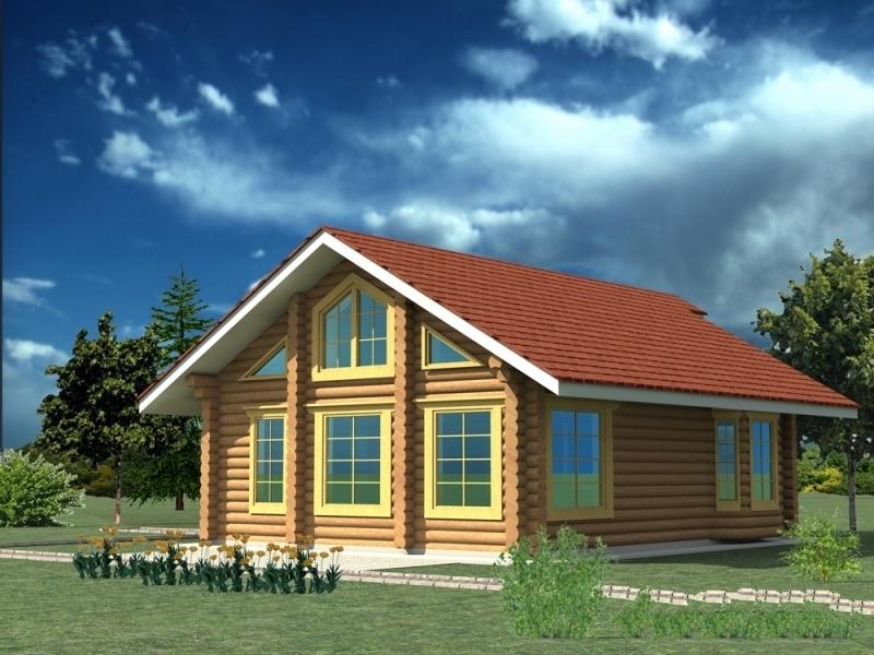 """Проект дома """"Лобелия"""", профилированный брус, 100 кв.м."""