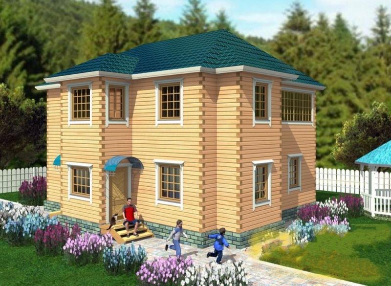 """Проект дома """"Ребекка"""", профилированный брус, 220 кв.м."""