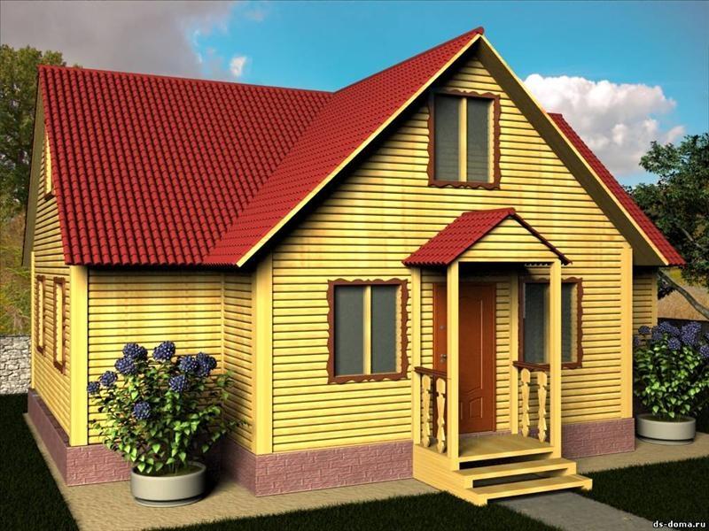 """Проект дома """"Дарем"""", профилированный брус, 116 кв.м."""