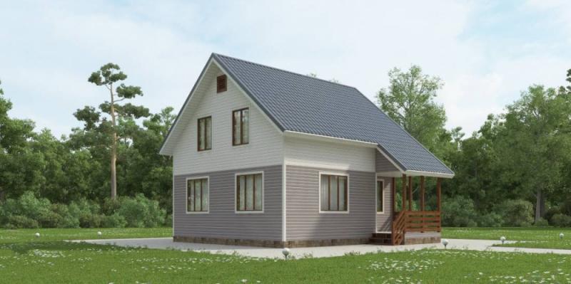 """Проект дома """"Агриппина"""", профилированный брус, 90.07 кв.м."""