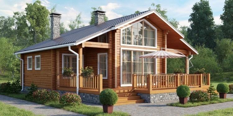 """Проект дома """"Бофор"""", профилированный брус, 100 кв.м."""