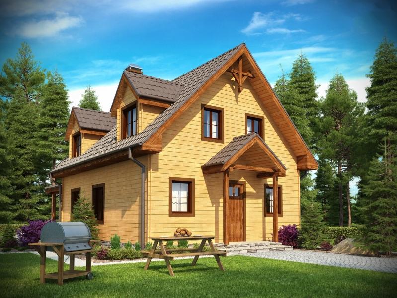 """Проект дома """"Данстер"""", профилированный брус, 80 кв.м."""