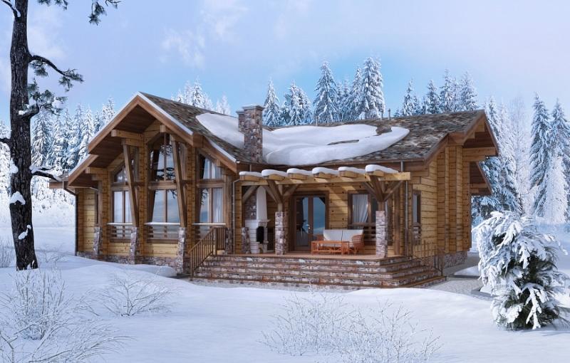 """Проект дома """"Агния"""", брус камерной сушки, 50 кв.м."""