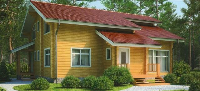 """Проект дома """"Бруна"""", профилированный брус, 140 кв.м."""