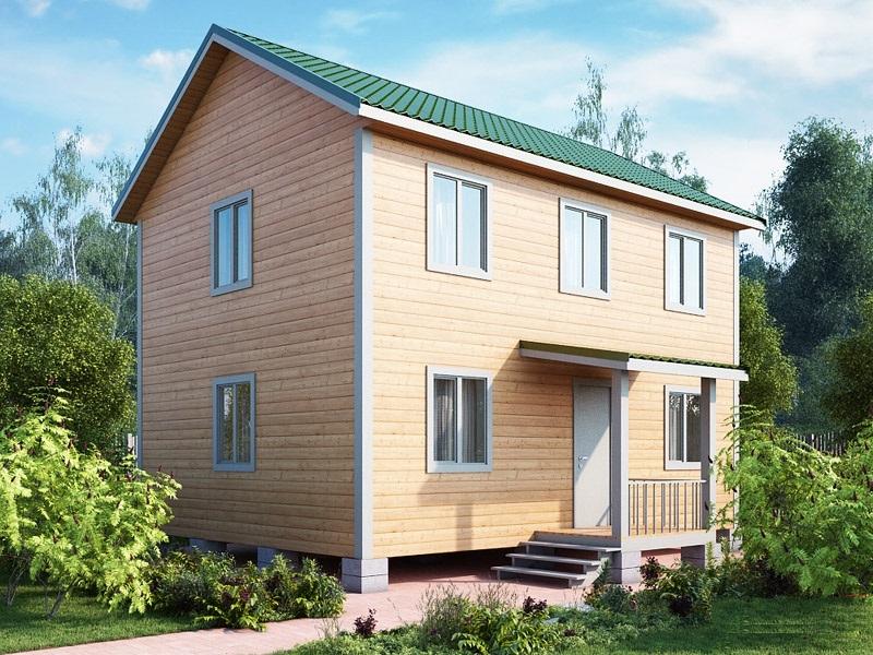 """Проект дома """"Палатия"""", профилированный брус, 112 кв.м."""