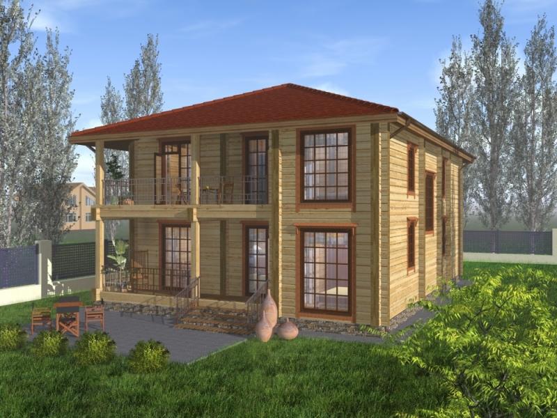 """Проект дома """"Герба"""", профилированный брус, 280 кв.м."""