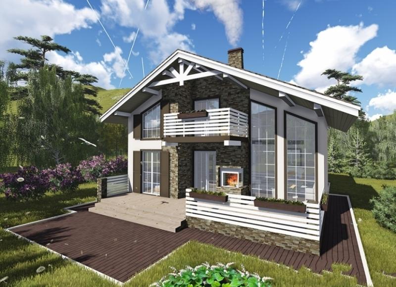 """Проект дома """"Ниса"""", профилированный брус, 120 кв.м."""