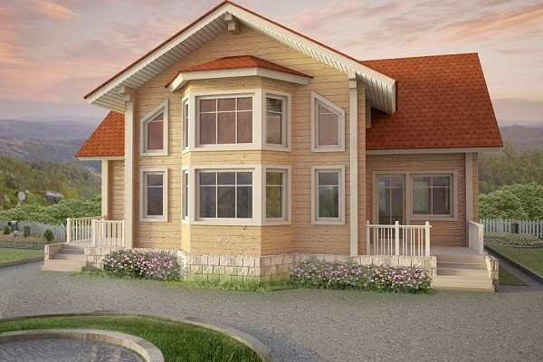 """Проект дома """"Ермак"""", профилированный брус, 240 кв.м."""