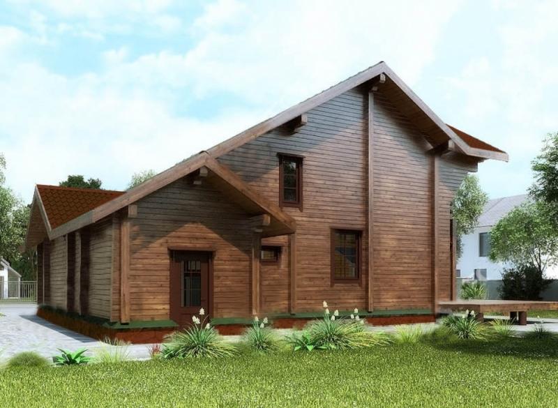 """Проект дома """"Эрна"""", брус камерной сушки, 195 кв.м."""