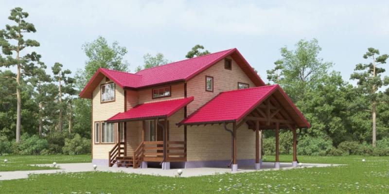 """Проект дома """"Кэрол"""", профилированный брус, 128 кв.м."""