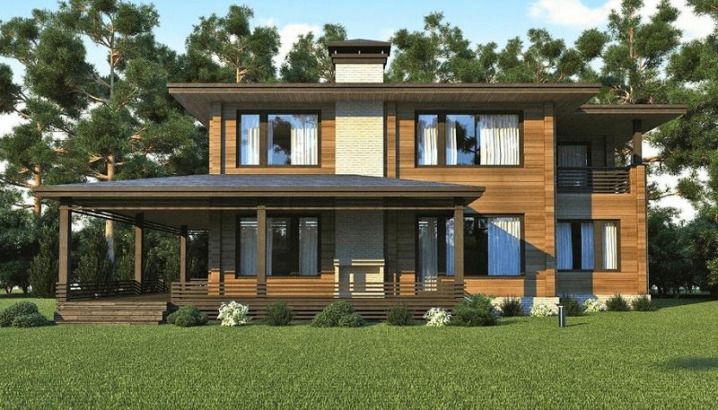 """Проект дома """"Персеверанция"""", профилированный брус, 234 кв.м."""