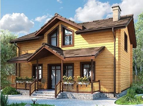 """Проект дома """"Патрокл"""", профилированный брус, 80 кв.м."""