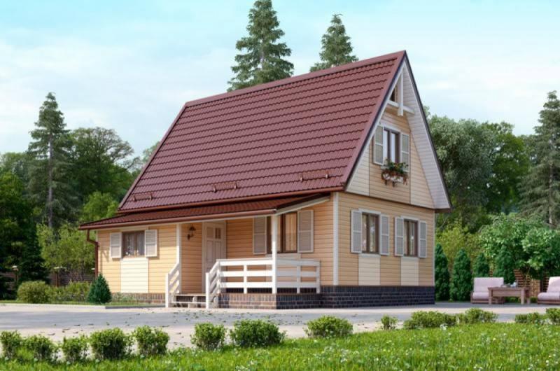 """Проект дома """"Патриция"""", профилированный брус, 71.56 кв.м."""
