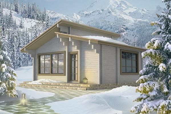 """Проект дома """"Уильямс"""", профилированный брус, 39.2 кв.м."""