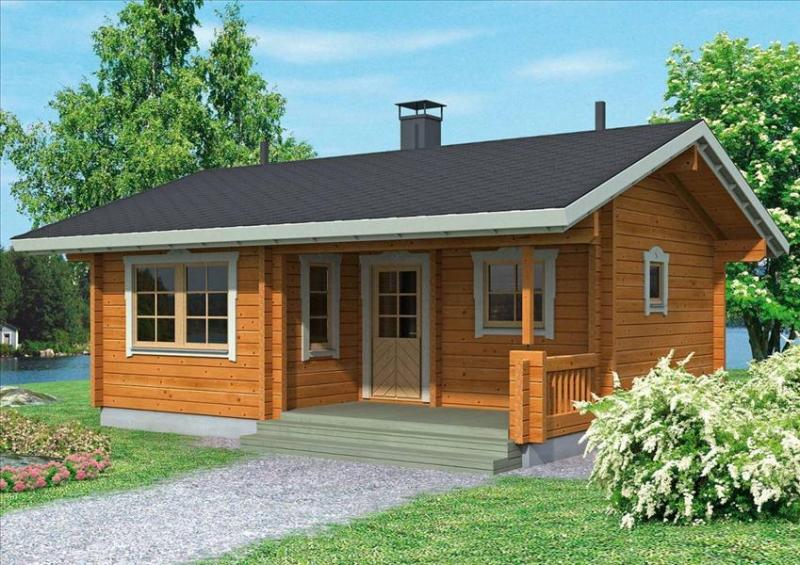 """Проект дома """"Альфа"""", профилированный брус, 35 кв.м."""