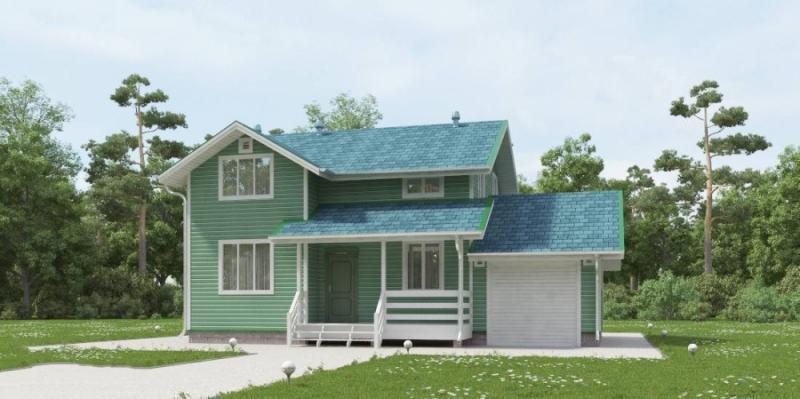 """Проект дома """"Бальдуинус"""", профилированный брус, 112 кв.м."""